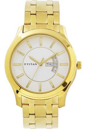 Titan Men White Dial Watch NH1627YM01