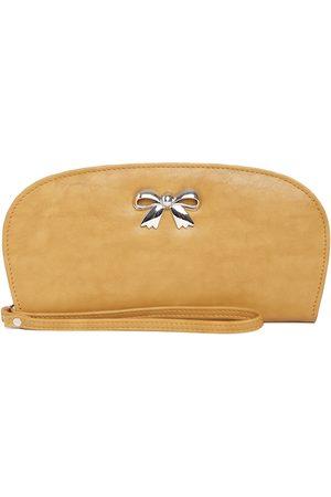 Butterflies Women Mustard Brown Wallet