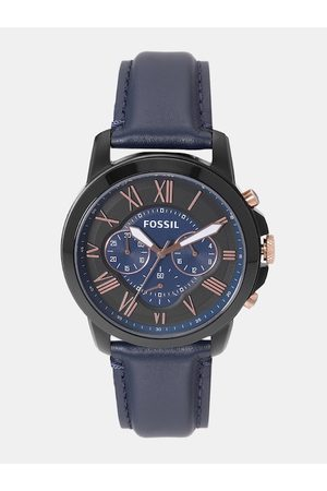 Fossil Men Navy Dial Chronograph Watch FS5061