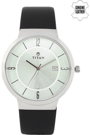 Titan Men Silver-Toned Dial Watch 90053SL01J