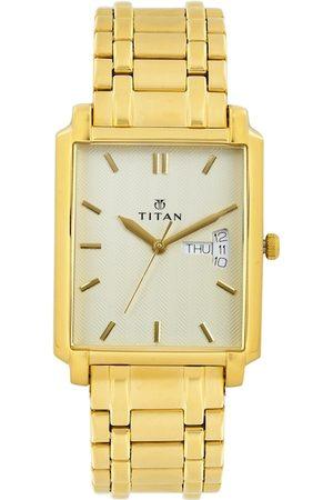 Titan Men White Dial Watch NF1506YM01