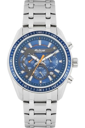 Titan Octane Men Navy Blue Chronograph Dial Watch