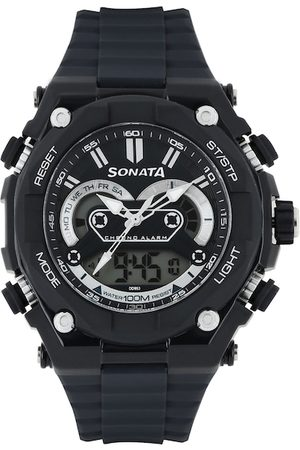 Sonata Men Ocean Series Navy Analogue & Digital Watch 77030PP03J