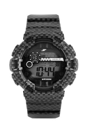 Sonata Ocean Series Men Black Digital Watch 77053PP03