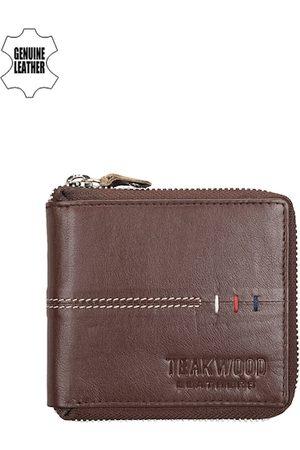Teakwood Leathers Men Brown Leather Wallet