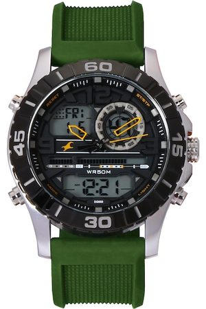 Fastrack Men Green Analogue and Digital Watch 38035SP01J
