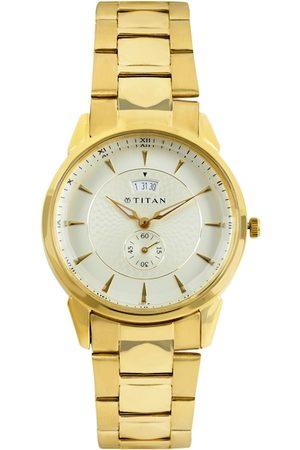 Titan Men Off-White Dial Watch NF1521YM01