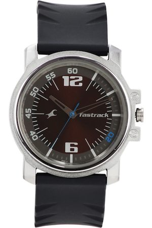 Fastrack Men Brown Analogue Watch NJ3039SP02C