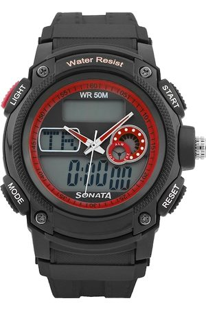 Sonata Men Gunmetal Toned Dial Watch NG7989PP03J