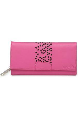 Butterflies Women Wallets - Women Pink Solid Two Fold Wallet