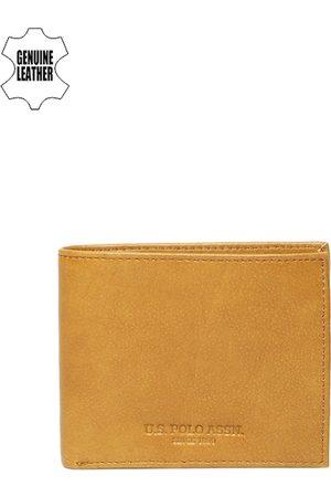 Ralph Lauren Men Tan Solid Two Fold Wallet