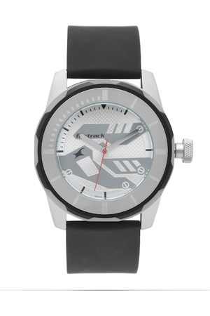 Fastrack Men Silver-Toned Dial Watch 3099SP01
