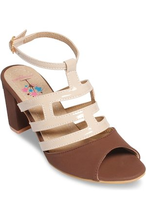 meriggiare Women Brown Solid Sandals