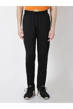 Alcis Men Black Solid Slim Fit Track Pants