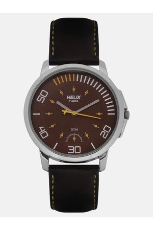 Helix Men Brown Analogue Watch TW027HG06