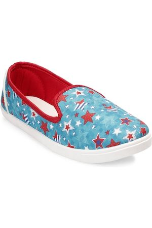 meriggiare Women Blue Slip-On Sneakers
