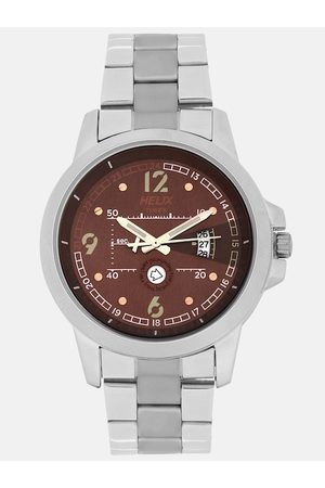 Helix Men Brown Analogue Watch TW023HG15