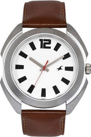Fastrack Men White Dial Watch 3117SL01