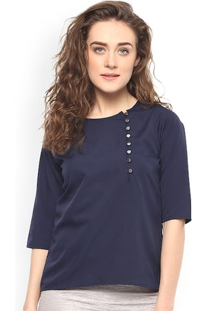 Mayra Women Blue Solid Top