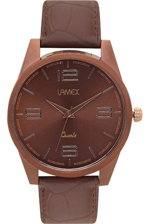 Lamex Men Brown Analogue Watch ZOOM DLX 5017