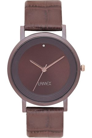Lamex Men Brown Analogue Watch ULTRA DLX 4539