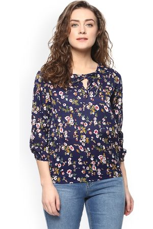 Mayra Women Blue Printed Top