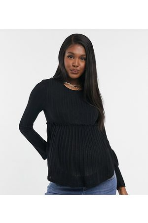 New Look Knitted peplum top in