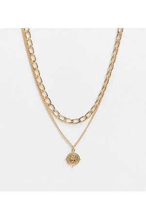 Accessorize Exclusive pack of 2 t-bar chain and layering necklace in