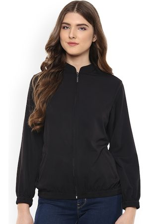 MABISH by Sonal Jain Women Black Solid Open Front Jacket