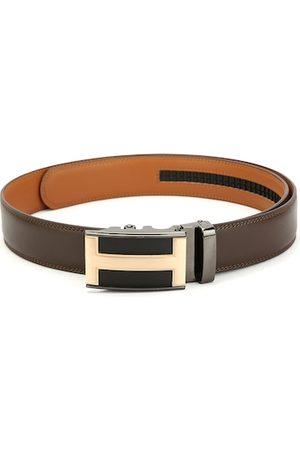 Pacific Men Brown Leather Wallet & Belt