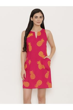 MABISH by Sonal Jain Women Pink Printed A-Line Dress