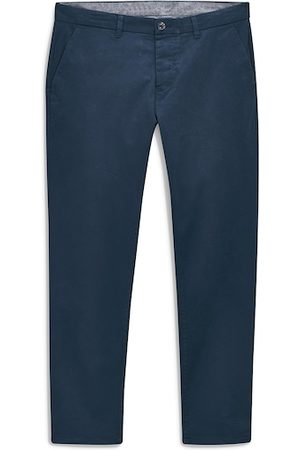 Next Men Blue Skinny Fit Solid Chinos