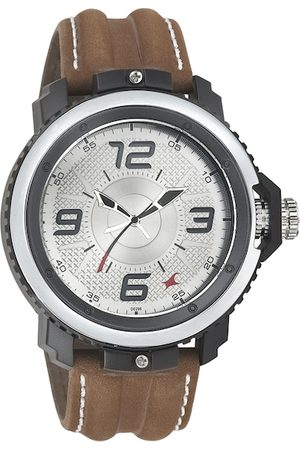Fastrack Men Silver-Toned Dial Watch 38017PL02J