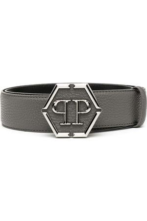Philipp Plein Men Belts - Hexagon logo-plaque belt