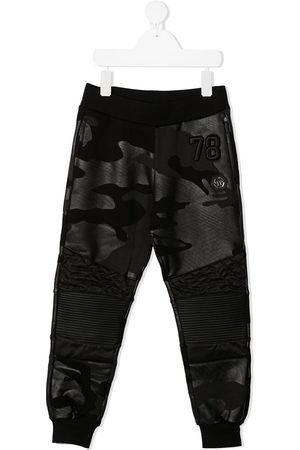 Philipp Plein Camouflage print track trouser