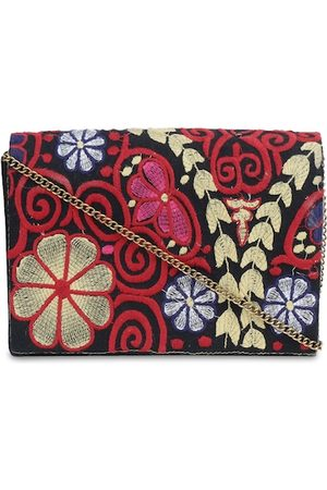 Diwaah Multicoloured Embroidered Clutch