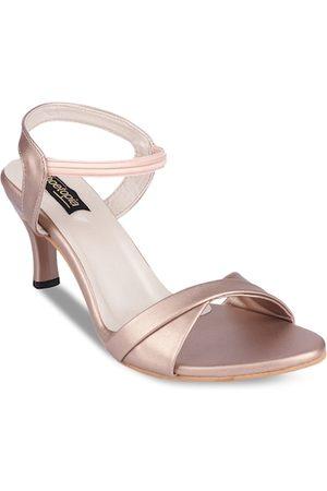 Shoetopia Women Copper-Toned Solid Sandals