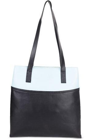 Diwaah Blue Colourblocked Tote Bag