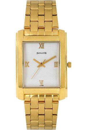 Sonata Men White Dial Watch NF7953YM01J