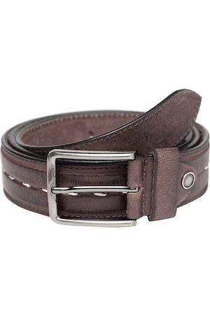 Teakwood Leathers Men Brown Solid Leather Belt