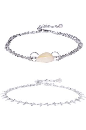 OOMPH Women Silver Plated Anklet