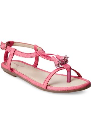 meriggiare Women Pink Solid Synthetic Open Toe Flats