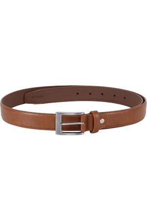 KARA Men Tan Brown Textured Belt