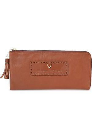 Hidesign Women Tan Brown Solid Zip Around Wallet