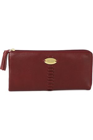Hidesign Women Leather Red Solid Zip Around Wallet