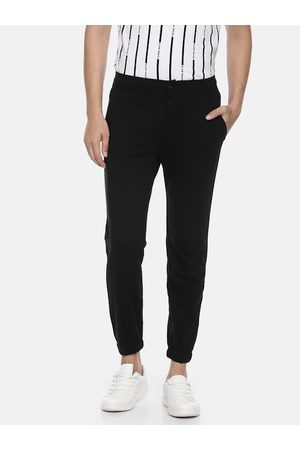 Pepe Jeans Men Black Regular Fit Solid Athleisure Joggers