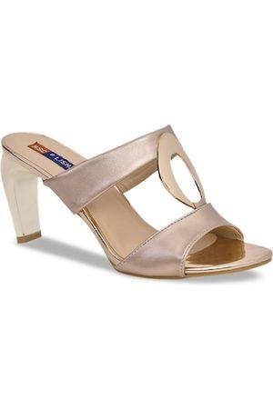 MSC Women Pink Solid Sandals