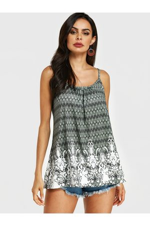 YOINS Spaghetti Strap Tribal Print Scoop Neck Cami