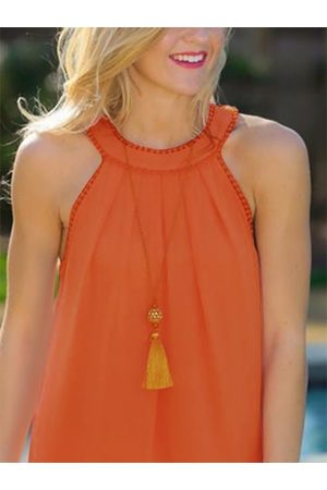 YOINS Hollow Out Back Lace Detail Tank Top