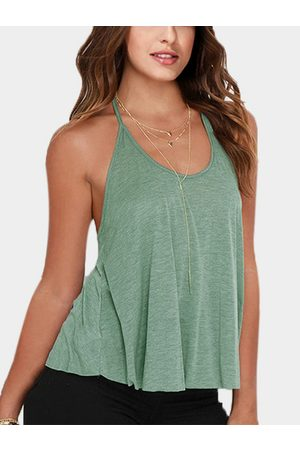 YOINS Light Scoop neck Sleevesless Backless Cami
